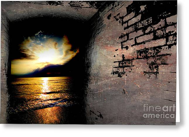 Sunset Greeting Cards Greeting Cards - In to the light  Greeting Card by Christopher  Ward