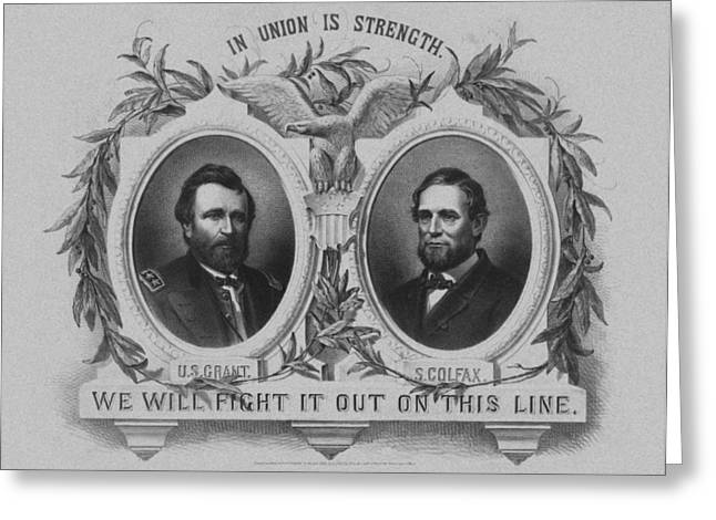 Historian Drawings Greeting Cards - In Union Is Strength Greeting Card by War Is Hell Store
