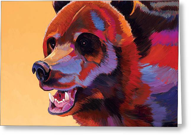Fauvist Wildlife Art Greeting Cards - In Your Face Greeting Card by Bob Coonts
