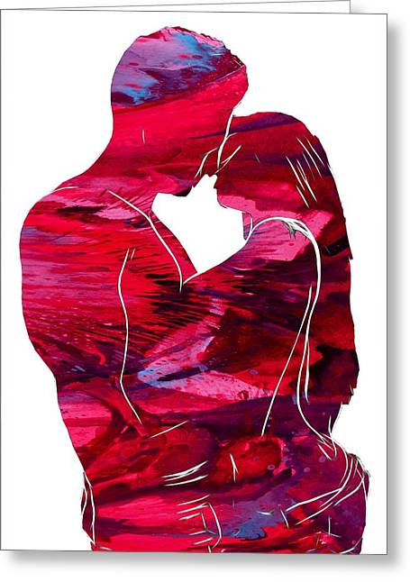 Abstract Digital Paintings Greeting Cards - In your head  Greeting Card by Stefan Kuhn