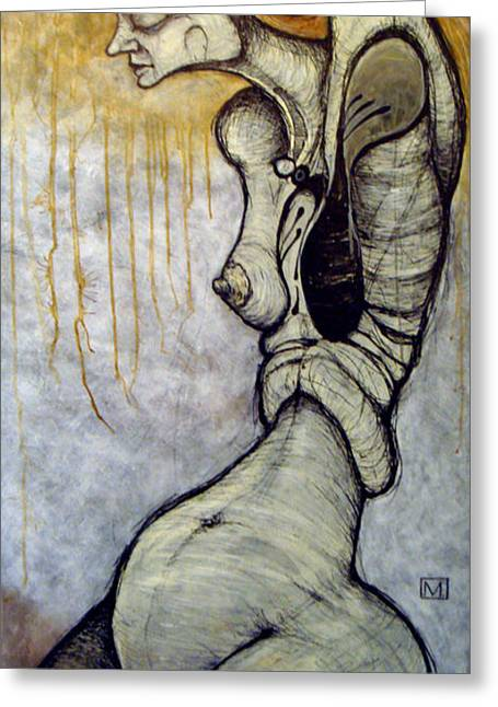 Figures Mixed Media Greeting Cards - Inanna Greeting Card by Mark M  Mellon