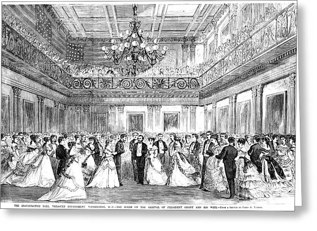 Ball Gown Greeting Cards - Inaugural Ball, 1869 Greeting Card by Granger
