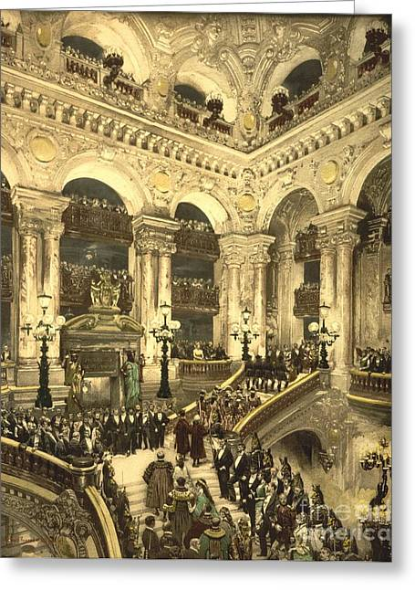 Inauguration Of The Opera House In Paris Greeting Card by Padre Art