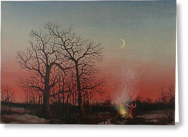 Wiccan Greeting Cards - Incantations of the Witch Greeting Card by Tom Shropshire