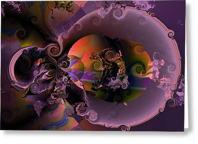 Colorful Abstract Algorithmic Contemporary Greeting Cards - Inception Greeting Card by Claude McCoy