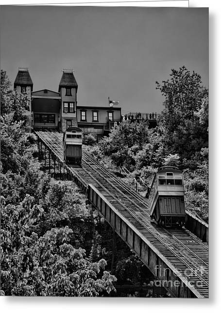 Incline Greeting Cards - Incline BW Greeting Card by Arthur Herold Jr