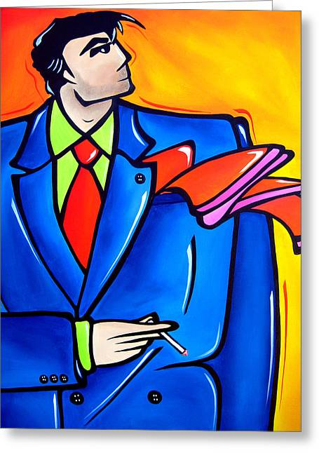 Incognito Original Pop Art Greeting Card by Tom Fedro - Fidostudio