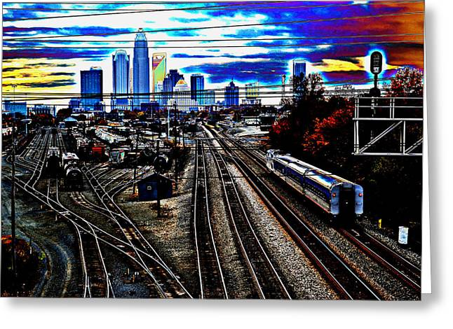 Charlotte Digital Art Greeting Cards - Incoming Greeting Card by Melanie Kirdasi