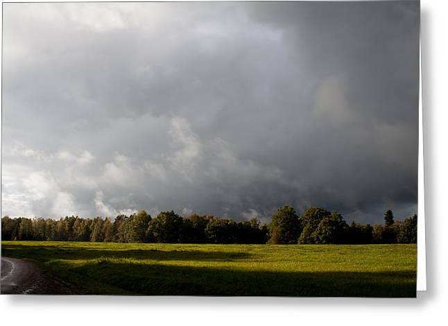Robert Hellstrom Greeting Cards - Incoming Rain Greeting Card by Robert Hellstrom