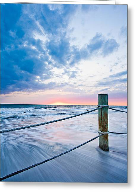 St Petersburg Florida Greeting Cards - Incoming Tide Greeting Card by Adam Pender
