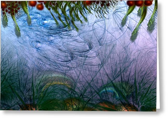 Inversion Digital Art Greeting Cards - Incursion Into the Inversion Greeting Card by Casey Kotas