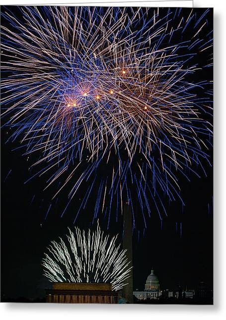 4th July Photographs Greeting Cards - Independence Day in DC 5 Greeting Card by David Hahn