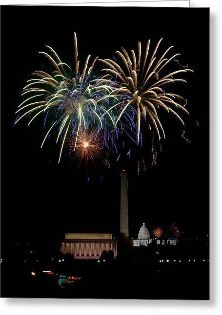 4th July Greeting Cards - Independence Day in DC Greeting Card by David Hahn