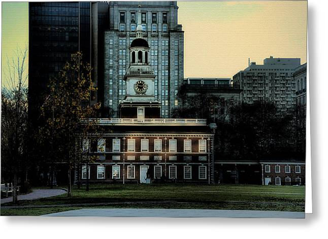 Independence Hall - The Cradle of Liberty Greeting Card by Bill Cannon