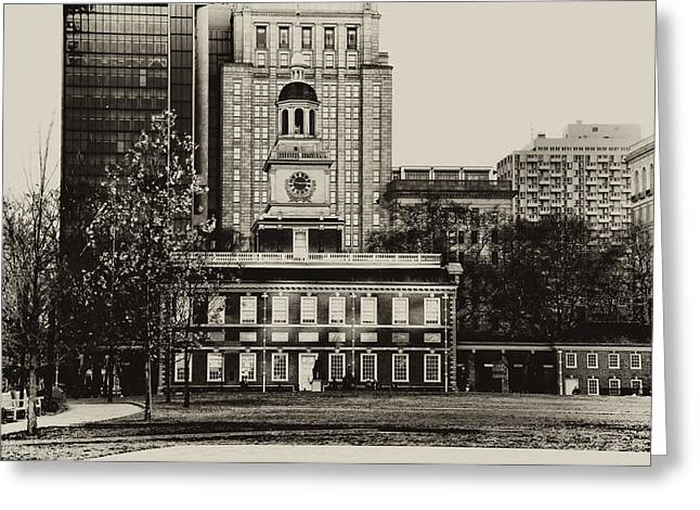 Philadelphia Photographs Greeting Cards - Independence Hall Greeting Card by Bill Cannon