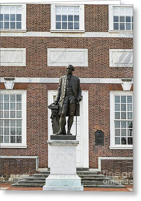 Independence Hall Philadelphia Greeting Card by John Greim