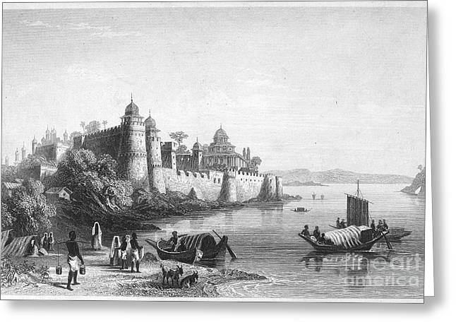 1850s Greeting Cards - INDIA: ALLAHABAD, 1850s Greeting Card by Granger