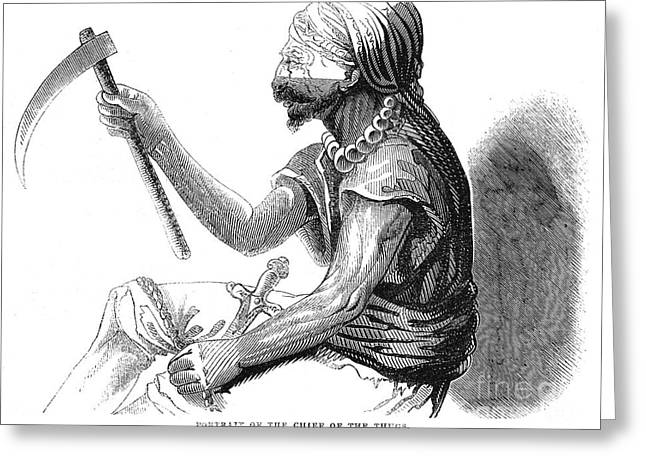 Thug Greeting Cards - India: Chief Of Thugs, 1843 Greeting Card by Granger