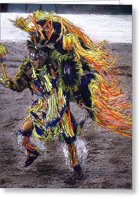 Indian Dancer Greeting Card by Randy Sprout