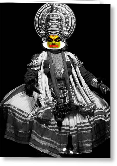 Tradition Greeting Cards - Indian Kathakali Dance Greeting Card by Sumit Mehndiratta