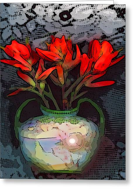 Visionary Artist Greeting Cards - Indian paintbrush Greeting Card by George  Page