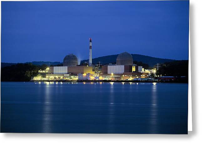 Three Generations Greeting Cards - Indian Point Nuclear Power Station Greeting Card by Martin Bond