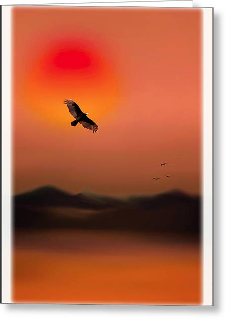Sunset Posters Greeting Cards - Indian Summer Greeting Card by Tom York Images