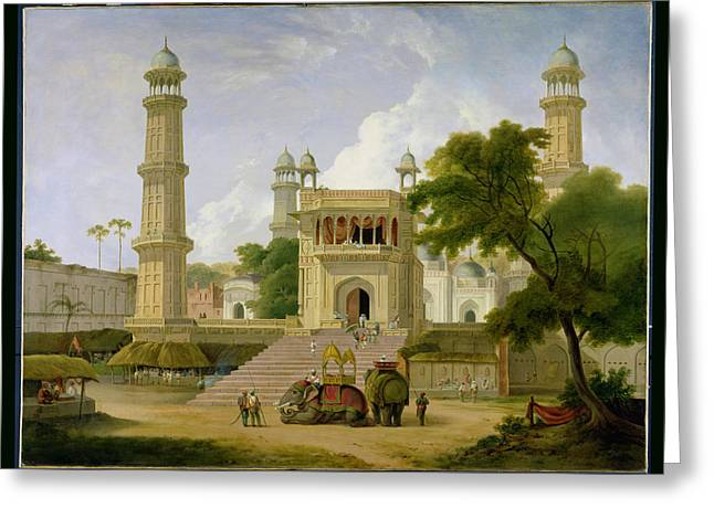 Indian Temple Greeting Card by Thomas Daniell