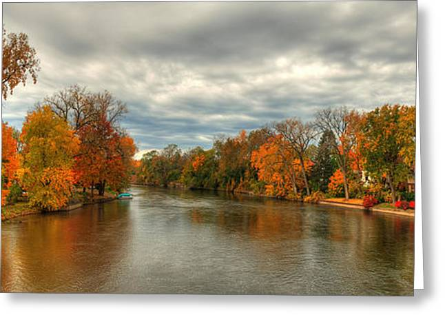 Indiana Autumn Greeting Cards - Indiana autumn landscape Greeting Card by Richard Fairless