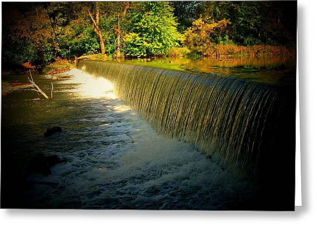 Indiana Autumn Greeting Cards - Indiana Waterfall Greeting Card by Joyce Kimble Smith