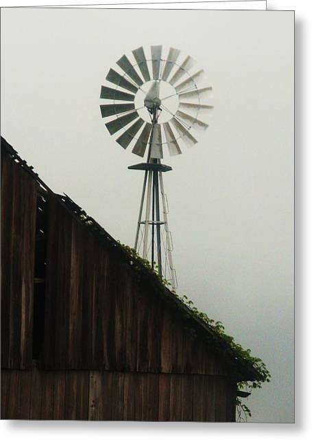 Rural Indiana Greeting Cards - Indiana Windmill Greeting Card by Joyce Kimble Smith
