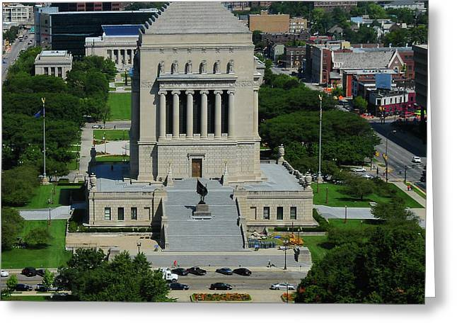 Indiana world and war memorial Greeting Card by Rob Banayote