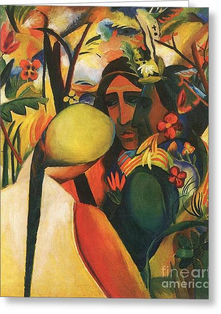 Macke Greeting Cards - Indianer Greeting Card by Pg Reproductions