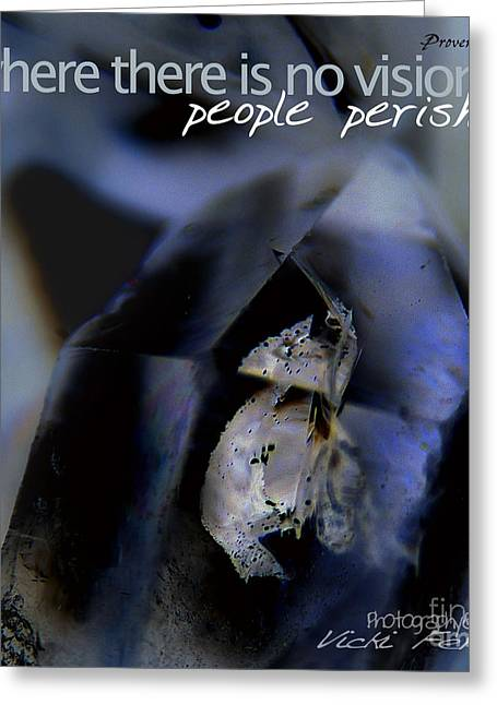 Nikkor Greeting Cards - Indigo Quartz Crystal Greeting Card by Vicki Ferrari