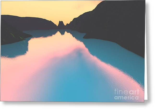 Crater Lake Sunset Greeting Cards - Indonesian crater lakes II Greeting Card by Gaspar Avila