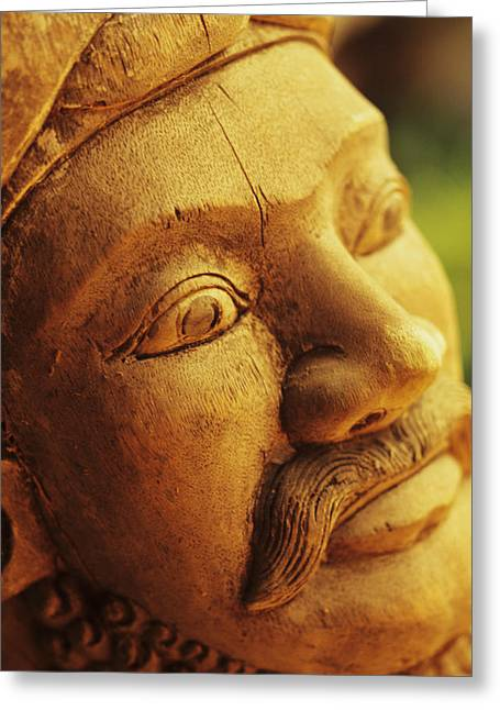 Culture Influenced Art Greeting Cards - Indonesian Wood Carving Greeting Card by Dana Edmunds - Printscapes