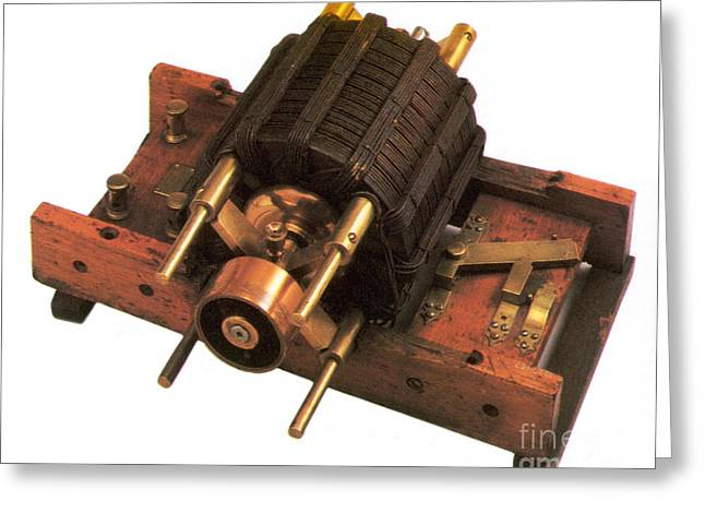 Induction Motor Greeting Card by Photo Researchers