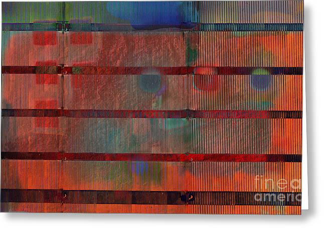 Industrial Abstract Greeting Cards - Industrial Abstract 5 Greeting Card by Andy  Mercer