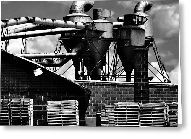 Manufacturing Greeting Cards - Industrial Building Greeting Card by HD Connelly