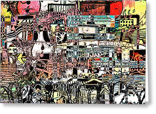 Industrial Mixed Media Greeting Cards - Industrial Complex 2 Greeting Card by Andy  Mercer