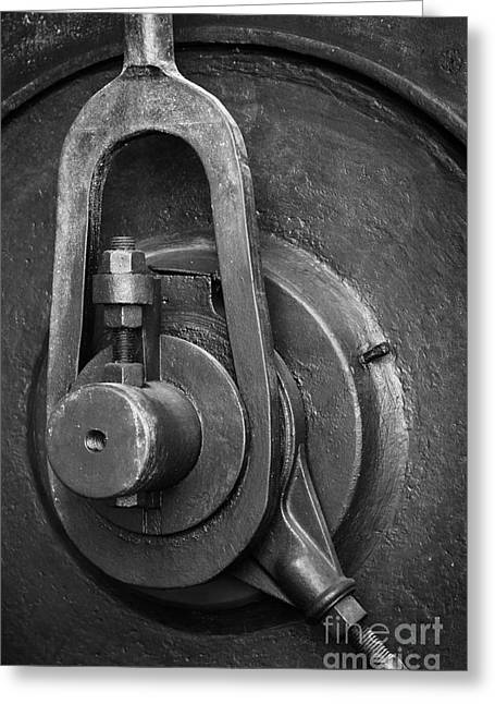 Mechanism Photographs Greeting Cards - Industrial detail Greeting Card by Carlos Caetano