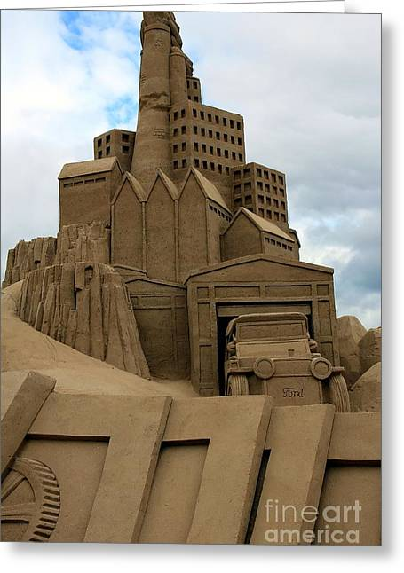 Sand Castles Greeting Cards - Industrial Era Greeting Card by Sophie Vigneault