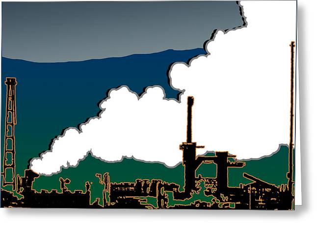 Industrial Graphic Greeting Card by Barry Hayton
