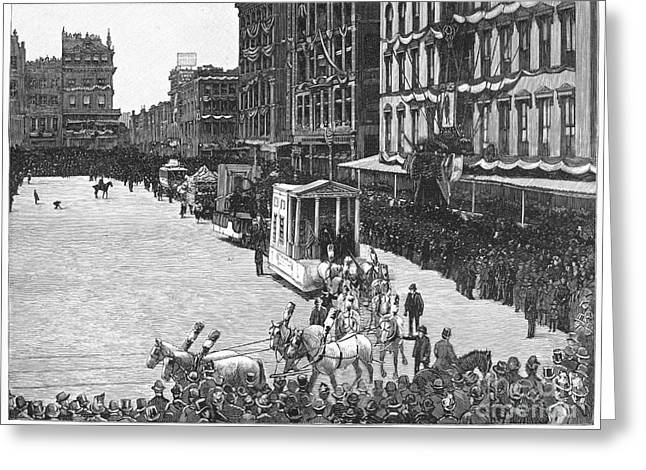 Union Square Greeting Cards - Industrial Parade, 1889 Greeting Card by Granger