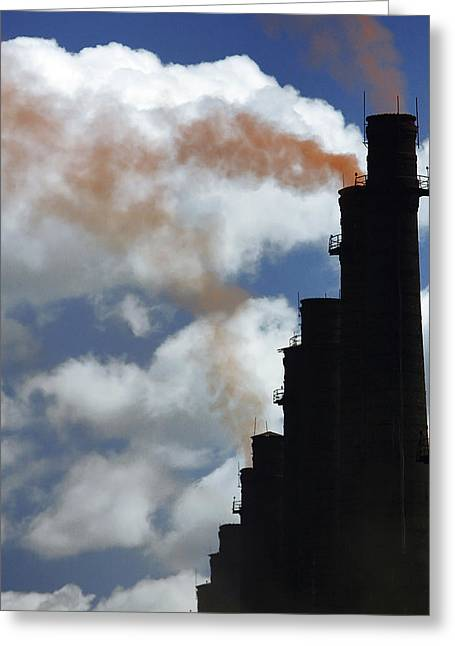 Smokestack Greeting Cards - Industrial Pollution Greeting Card by Ria Novosti