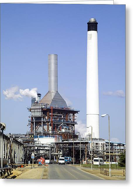 Carbon Emissions Greeting Cards - Industrial Power Station Greeting Card by Paul Rapson