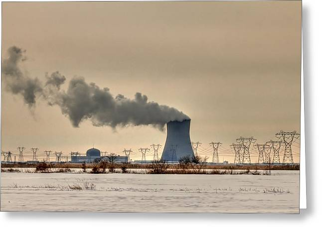 New Energies Greeting Cards - Industrialscape Greeting Card by Evelina Kremsdorf