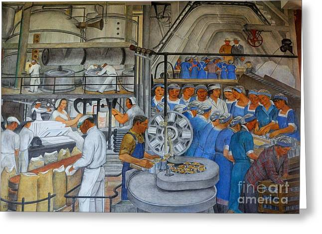 Wpa Prints Greeting Cards - Industries of California Greeting Card by Pg Reproductions