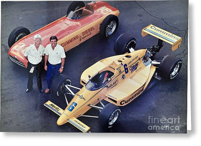 Indy 500 Historical Race Cars Greeting Card by John Black