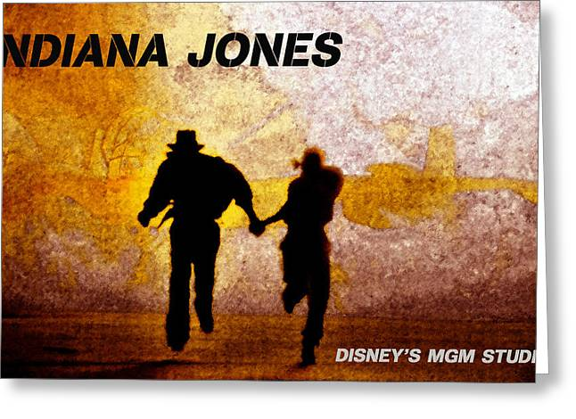 Indiana Scenes Greeting Cards - Indy and Marions escape Greeting Card by David Lee Thompson